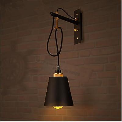 H&M Applique Murale Wall Light Vintage Industrial LOFT Rétro lampe murale créative en fer avec douille E27 pour salon Chambre à coucher décoration de chaise (ampoules non comprises)