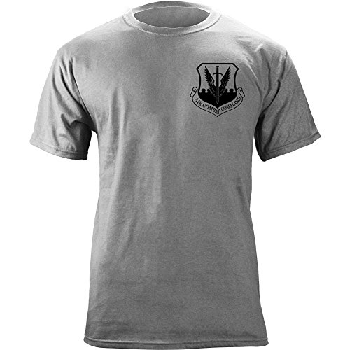 Air Combat Command Full Color Veteran Patch T-Shirt (2X-Large, Heather Grey) (Command Patch Combat Air)