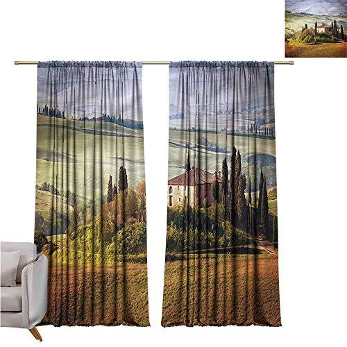 zojihouse Tuscan Fashion Room Darkening Window Curtains 55
