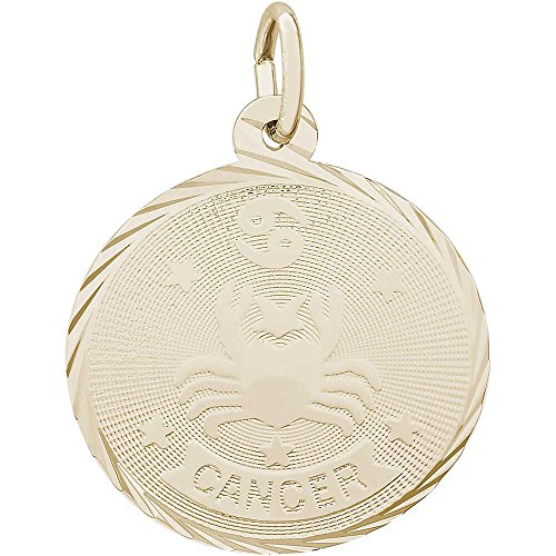 Rembrandt Charms Cancer Charm, Gold Plated (Cancer Charm Gold Plated)