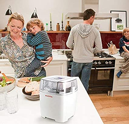 Aucma Ice Cream Machine FDA Approved HICM-115 Electric Ice Cream Maker for Home Kids