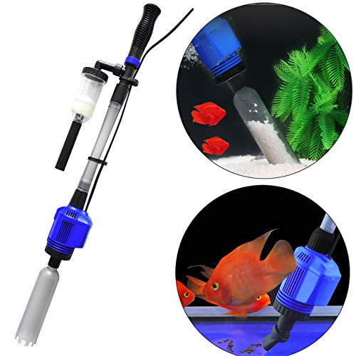 COODIA Vacuum Gravel Cleaner Automatic Aquarium Sludge Extractor Water Changer, 3 in1 16W