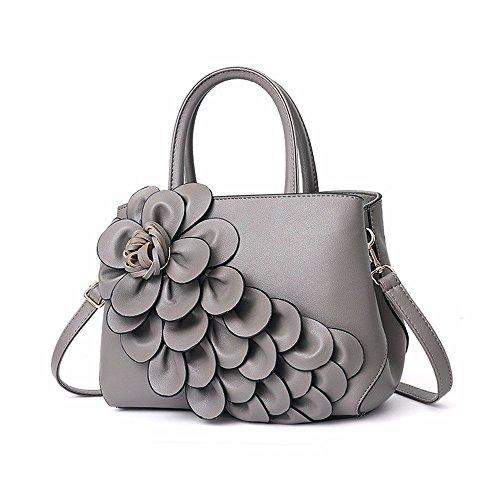 Semplici colore Gray Moda Da Borse Tracolla A Nero Willsego Dimensione a Donna UTpYxCnq