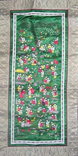 Asian Vintage Textile Art Antique Applique Embroidery 100% Ethnic Needlework #179 from Interact China