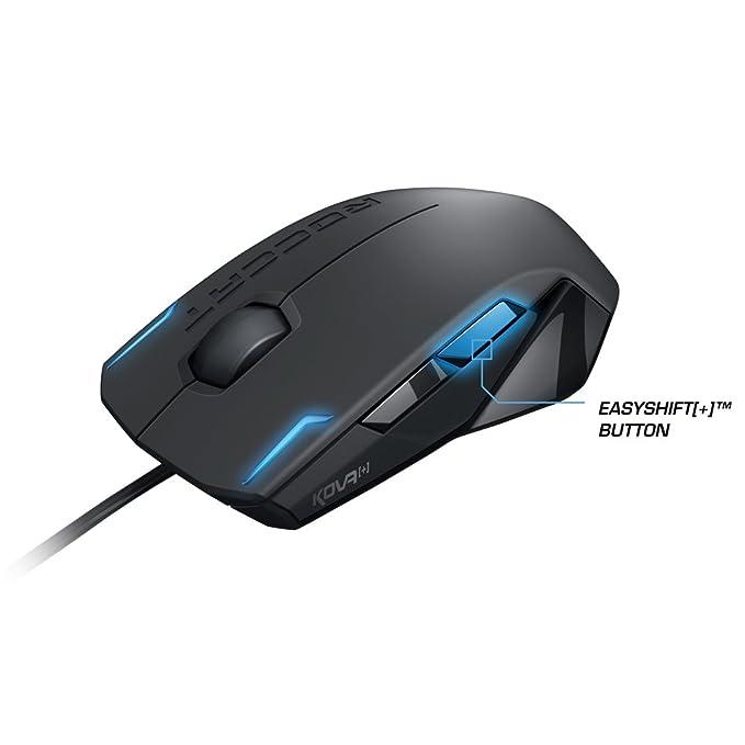 Roccat Kova+ - Ratón Gaming (Sensor Pro-Optic 3200 DPI, tecla Easy-Shift[+], ambidextro) negro: Amazon.es: Informática