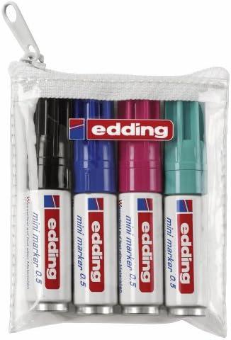 Edding 4//–/05//–/4//–/Mini marcador permanente 0.5/Ancho de traza 1,5//–/3/mm color negro
