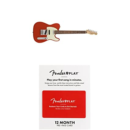 Fender Vintage Noiseless Stratocaster Pickups Set Amazon Com >> Fender Deluxe Nashville Telecaster Electric Guitar Pau Ferro Fingerboard Fiesta Red With 12 Months Guitar Lesson Gift Card