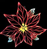 Vickerman Lighted LED Poinsettia Flower Christmas Window Silhouette Decoration, 15""