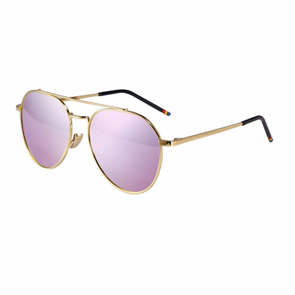 11f4e2a20a LXKMTYJ Película Reflectante De Color Gafas De Sol Polarizadas De Conducción  Marea Hembra Macho Espejo Retorcido Marco Dorado Violeta: Amazon.es:  Deportes y ...