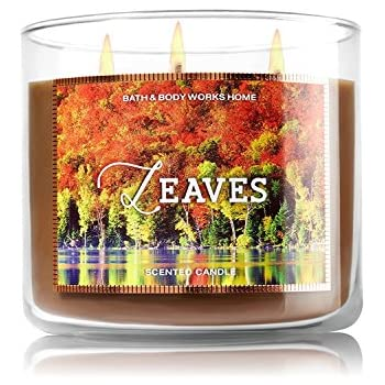 Bath & Body Works Leaves Scented Candle 14.5 Ounce 3 Wick Limited Edition Fall 2015