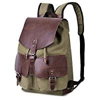Deals on Vbiger Vintage Canvas Backpack Casual Shoulder Bag Large