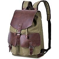 Vbiger Vintage Canvas Casual Shoulder Bag Large Capacity Rucksack
