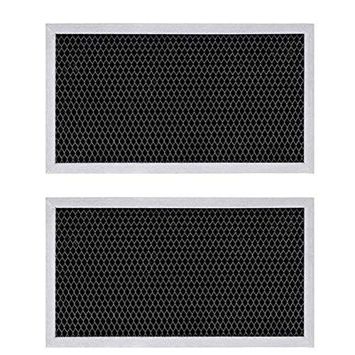 HASMX 2-Pack Microwave Charcoal Filter CF2963 Replacement for GE WB02X10956 WB2X10956 JX81H Grease and Odor Extraction Filters