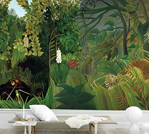 Tropical Rainforest Wallpaper Forest Green Plant Cafe Gran