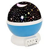 Night Lights for Boys, ZHOPPY Star and Moon Starlight Projector Bedside Lamp for Bed Room Kids Bedroom Decorations - Birthday Gifts for Boys, Blue