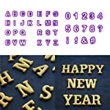 FMY 40pcs Alphabet Letter Number Fondant Cake Biscuit Baking Mould Cookie Cutters