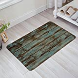 Infinidesign Doormat Entrance Mat Floor Rug Kitchen/Front Door/Bathroom Mats Rustic Old Barn Wood Pattern 23.6''x 15.7''