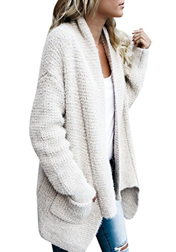 nit Solid Full Sleeve Sweater Draped Cardigan (Juniors Open Weave)