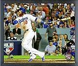 """Justin Turner Los Angeles Dodgers MLB Action Photo (Size: 17"""" x 21"""") Framed"""