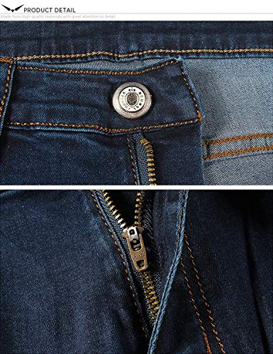 Stretch Confortevole Pants Size Series Pencil 30l Denim Mens Slim 28 Fit Jeans Youth Dh8048 Pantaloni Vintage color 2 Skinny HPA0YwwqS