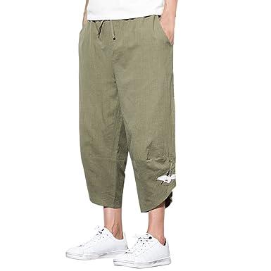 Zhhlinyuan Harem Pantalón Hombre Casual Thai Yoga Pants ...