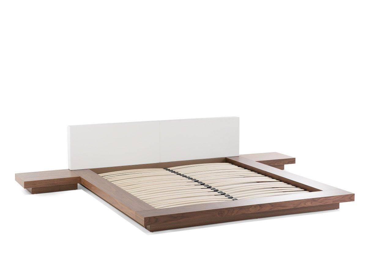 Designer Bett Japan Stil japanisches Holzbett Walnuss Farbe BRAUN ...
