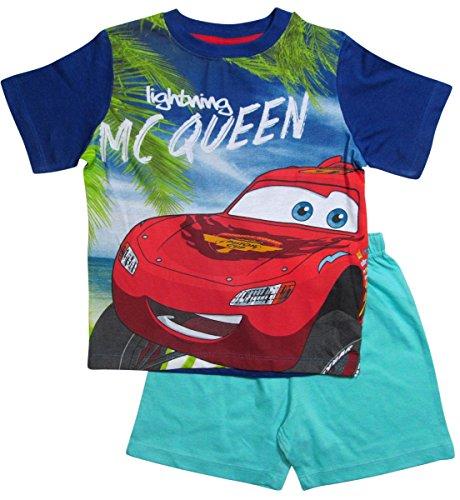 Disney Cars 2 Pyjama Kollektion 2016 Shortie 92 98 104 110 116 122 128 Shorty Kurz Jungen Sommer Neu Schlafanzug Lightning McQueen (110 - 116, Blau)