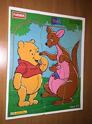 Pooh Kanga Roo 9 Pieces Tray Wood Puzzle #674-07