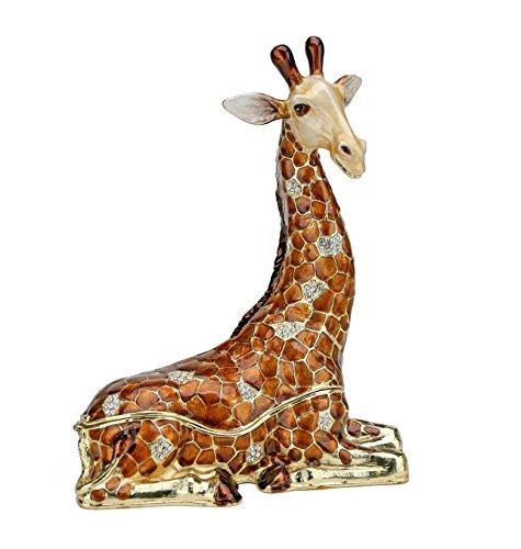 4  Resting Giraffe Keepsake Box With Swarovski Crystals Jewelry Box  Trinket Box   Figurine