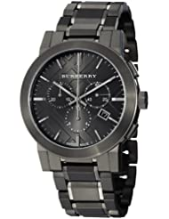 Burberry Chronograph Mens Dark Nickel Stainless Steel Watch BU9354