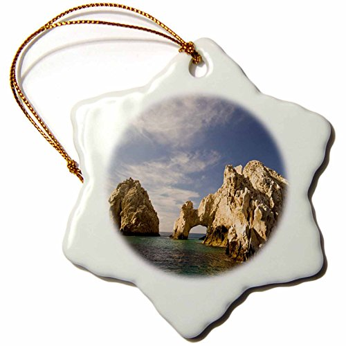 (3dRose orn_86803_1 Lands End, The Arch, Rock Formation, Mexico-SA13 SWS0218-Stuart Westmorland-Snowflake Ornament, Porcelain,)