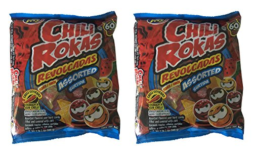 Chili Rokas Revolcadas Assorted Flavored Candy, 60 Count Bag (Pack of 2)