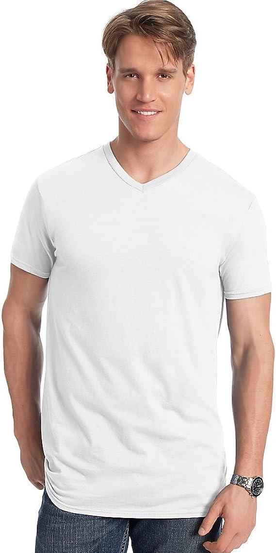 Details about  /Hanes Men/'s Nano-T T-shirt Heather Navy