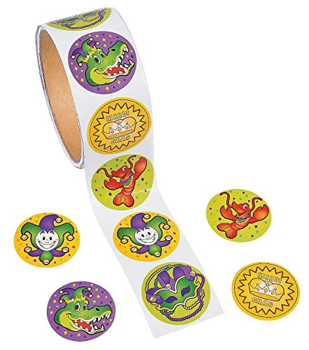 Jester Costume Diy (Mardi Gras Stickers - 100 per roll)