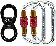GM CLIMBING 30kN Micro Rotator Climbing Rope Swivel Device Spinner 6700lb Breaking Strength for Rock Climbing