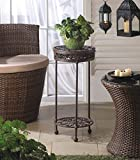 Garden Planters Iron Craft Black Corner Stand Tall Pot Holder Indoor Outdoor Light Home Patio Decor