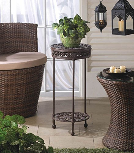 Garden Planters Iron Craft Black Corner Stand Tall Pot Holder Indoor Outdoor Light Home Patio Decor For Sale