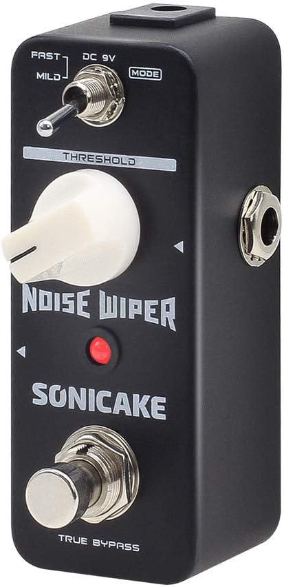 SONICAKE Noise Wiper True Bypass Noise Gate Pedal de efectos para Guitarra y Bajo