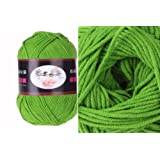 Milk Cotton Yarn R1002 knitting Yarn Scarf Yard Warm & Soft Yarn, Green(9#)