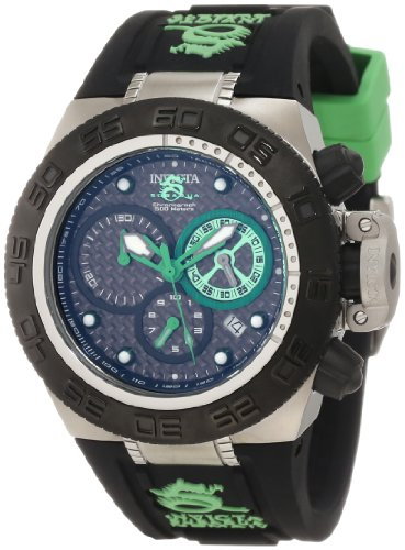 Invicta Women's 10157 Subaqua Noma IV Chronograph Black Dial Black and Green Silicone Watch