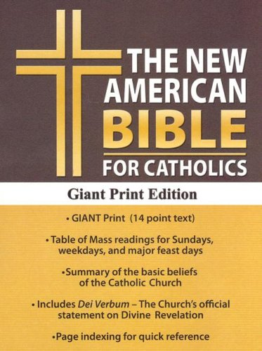 Catholic Bible-Nab-Giant Print