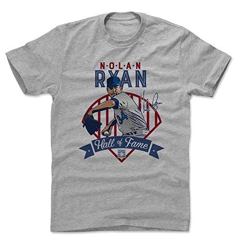 500 LEVEL Nolan Ryan Cotton Shirt (Small, Heather Gray) - Texas Rangers Men's Apparel - Nolan Ryan Fame Tex B