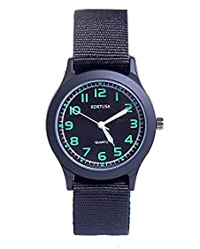 School Kids Army Military Wrist Watch Time Teacher Luminous Watch with Nylon Strap