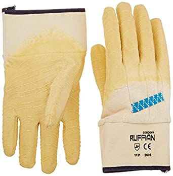 San Jamar 1000 Oyster Shucking Glove, Natural Rubber/Latex/Cotton (Pack of 2)