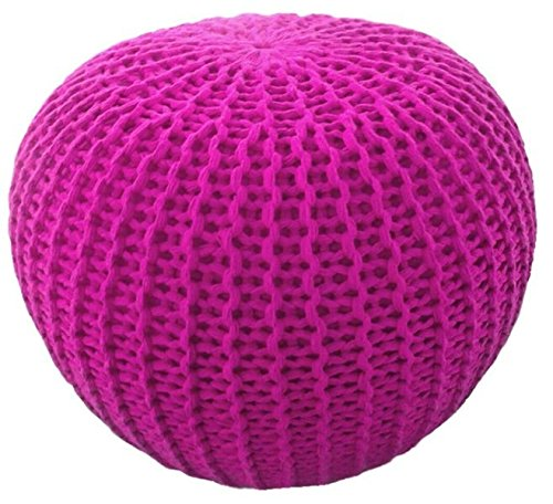 Better Trends / Pan Overseas Morro Pouf, 15 x 18, Pink