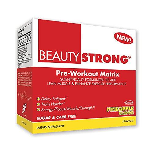BeautyFit BeautyStrong, Pre-Workout Matrix For Women, Pineapple, Box (25 Packets/Servings)