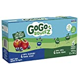 GoGo squeeZ Go Go Squeez 12 Pack 6 Apple Blueberry 6 Apple Apple, Apple Apple Blueberry, 90 Grams