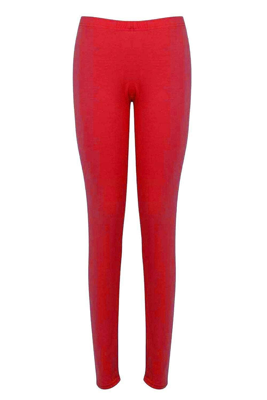 Girls Plain Leggings Kids Children Teen Basic Stretchy Full Length 21 Colours 3-14 Years