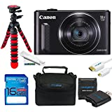 Canon PowerShot SX610 HS Digital Camera (Black) + 16GB Be-Pro Memory Card + Micro HDMI + Be-Pro Accessories Bundle