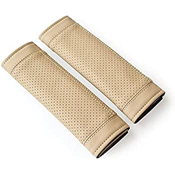 Encell PU Car Seat Belt Cover Shoulder Pad,Beige